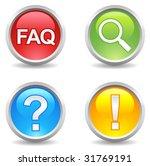 vector internet buttons   faq ...   Shutterstock .eps vector #31769191