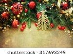 Christmas Retro Card Border...
