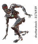 cyborg 3000 crouch | Shutterstock . vector #3176939