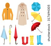 set of clothes and accessories... | Shutterstock .eps vector #317694305