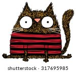 quirky hand drawn vector sketch ... | Shutterstock .eps vector #317695985