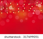 christmas lights background... | Shutterstock .eps vector #317699051