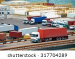 truck transportation container... | Shutterstock . vector #317704289