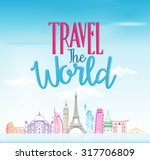 travel the world concept design ... | Shutterstock .eps vector #317706809