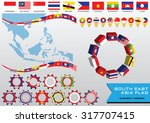 aec or asean or south east... | Shutterstock .eps vector #317707415