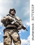united states army ranger with... | Shutterstock . vector #317715119