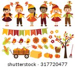 happy harvest | Shutterstock .eps vector #317720477