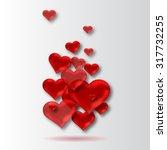 hearts background | Shutterstock . vector #317732255