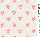 seamless pattern with hearts | Shutterstock .eps vector #317735729