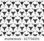 black pattern on a white... | Shutterstock . vector #317736251