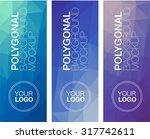 vertical  polygonal banners | Shutterstock .eps vector #317742611