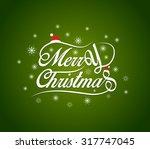 merry christmas lettering...   Shutterstock . vector #317747045