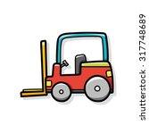 cargo truck doodle | Shutterstock .eps vector #317748689