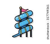 water slide doodle | Shutterstock .eps vector #317749361