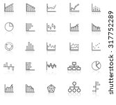 graph line icons with reflect...   Shutterstock .eps vector #317752289