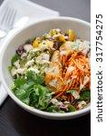 Small photo of Colorful Scallop Guacamole Salad Bowl