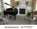 Luxury home grand piano with stylish decor.