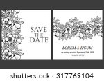 romantic invitation. wedding ... | Shutterstock .eps vector #317769104