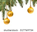 christmas decoration with space ... | Shutterstock . vector #317769734