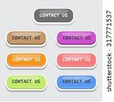 contact us button set | Shutterstock .eps vector #317771537