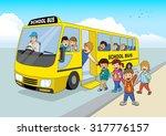 cartoon illustration of school... | Shutterstock .eps vector #317776157