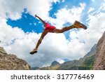 girl athlete with great... | Shutterstock . vector #317776469