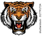 Stock vector angry tiger face 317791724