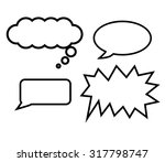free hand draw of balloons text ... | Shutterstock .eps vector #317798747