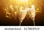 new year fireworks and... | Shutterstock .eps vector #317803919
