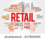 retail word cloud  business... | Shutterstock .eps vector #317805404