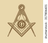 masonic freemasonry emblem icon ... | Shutterstock .eps vector #317806601
