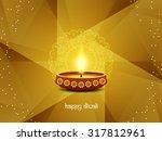 religious happy diwali vector... | Shutterstock .eps vector #317812961