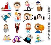 sport icons   part 2  vector  | Shutterstock .eps vector #31781584