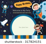 happy birthday invitation card... | Shutterstock .eps vector #317824151