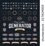 retro emblem generator is set... | Shutterstock .eps vector #317829005