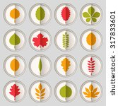 flat vector illustration  set... | Shutterstock .eps vector #317833601