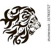the lion pattern | Shutterstock .eps vector #317833727