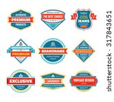 vector graphic badges... | Shutterstock .eps vector #317843651
