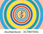 sending out sound waves as...   Shutterstock .eps vector #317847041