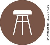 stool  chair  wooden icon... | Shutterstock .eps vector #317847191