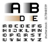 vector speed motion blur font... | Shutterstock .eps vector #317848559