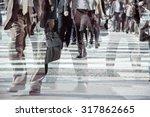 multiple exposure image of...   Shutterstock . vector #317862665