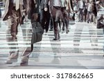 Multiple Exposure Image Businessman Walking - Fine Art prints