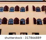 colorful facade with a retro ... | Shutterstock . vector #317866889