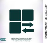 infographic styled vector  cube ... | Shutterstock .eps vector #317868239