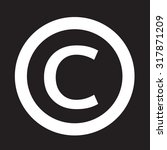 copyright symbol icon | Shutterstock .eps vector #317871209