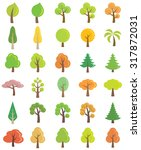 tree vector icons  | Shutterstock .eps vector #317872031