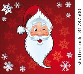 santa claus   christmas card | Shutterstock .eps vector #31787500
