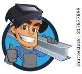 friendly blacksmith or welder ... | Shutterstock .eps vector #317877899
