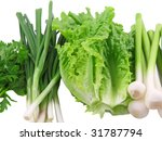 vegetable young onion  garlic ... | Shutterstock . vector #31787794